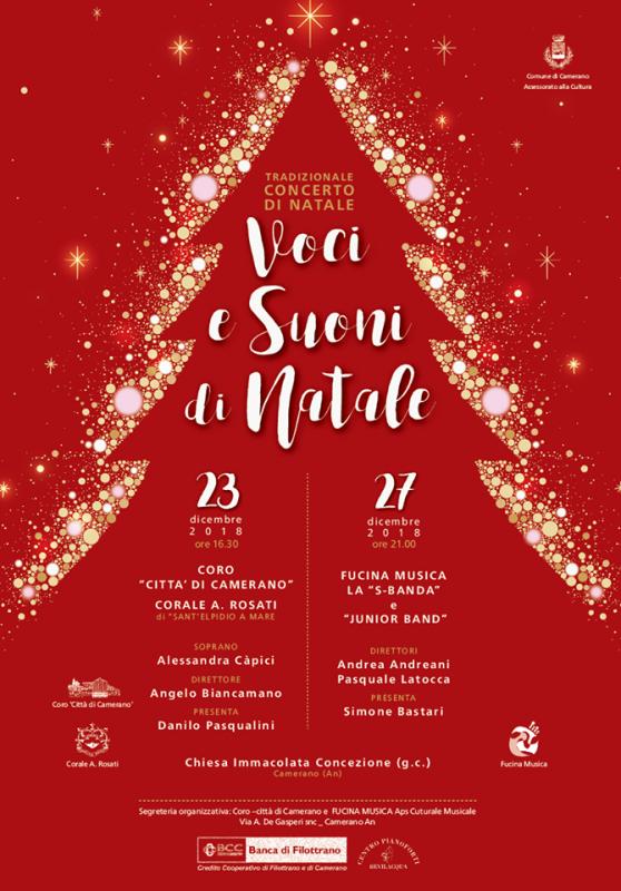 Concerto Di Natale.Concerto Di Natale E Capodanno A Camerano 2019 An Marche Eventi E Sagre