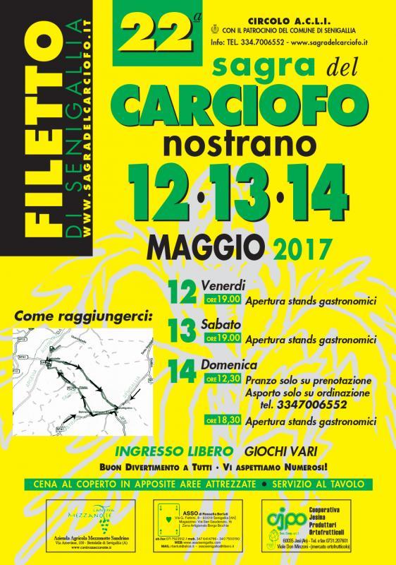 Sagra del carciofo nostrano senigallia an 2017 marche for Eventi marche 2017