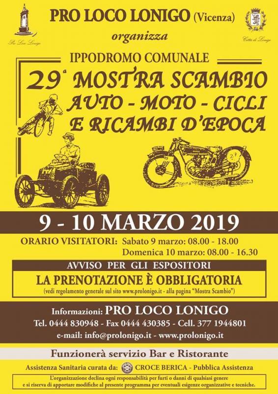 Calendario Mostre Scambio.Mostra Scambio Auto Moto Cicli E Ricambi D Epoca A