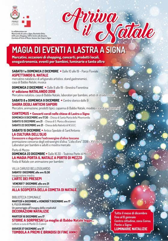 Eventi Di Natale.Eventi Di Natale A Lastra A Signa A Lastra A Signa 2018