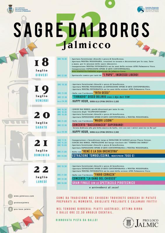 Calendario Pesca Sportiva Fvg 2020.Sagre Dai Borgs A Palmanova 2019 Ud Friuli Venezia
