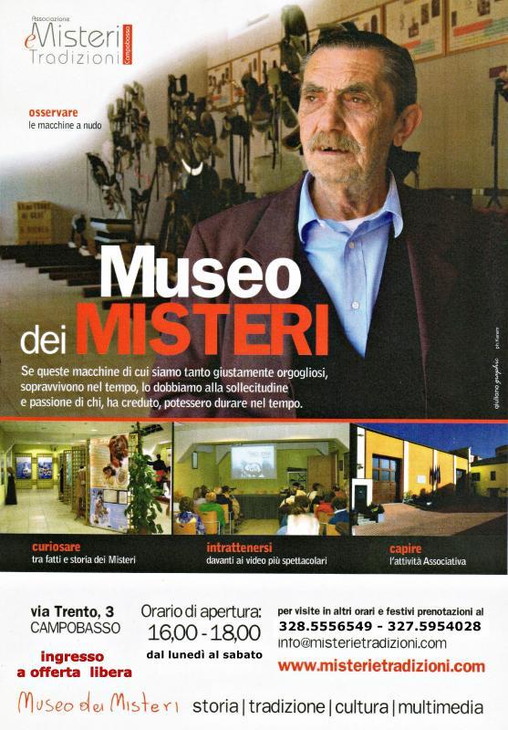 Museo dei misteri campobasso cb 2006 molise su eventi for Orari apertura negozi trento