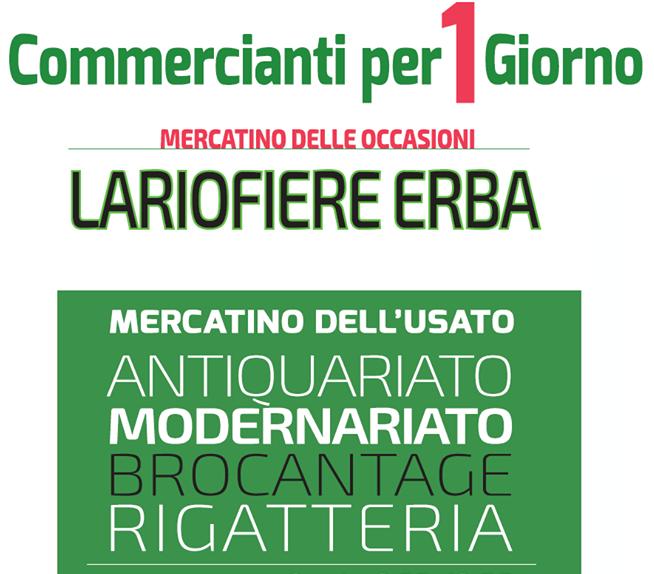 Fiera Erba Calendario.Commercianti Per Un Giorno A Erba 2018 Co Lombardia