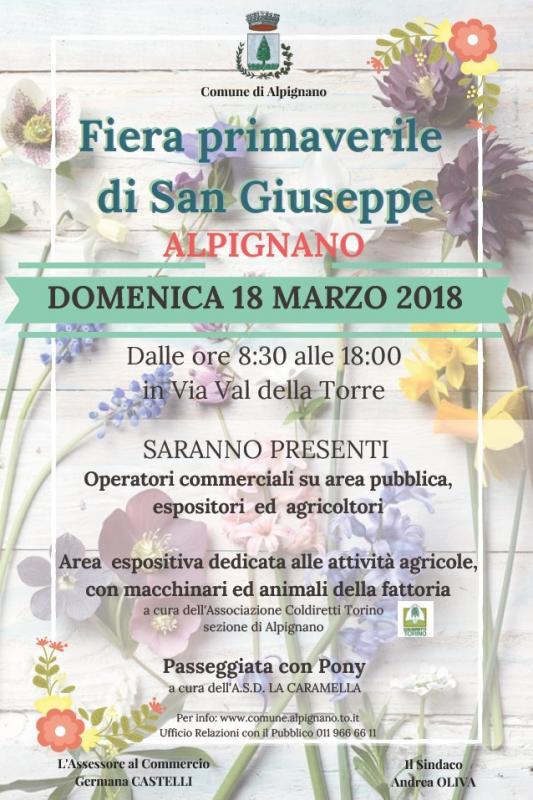 Fiera di s giuseppe alpignano to 2018 piemonte for Fiere piemonte oggi