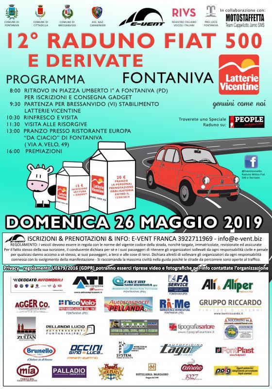 Calendario Raduni Fiat 500 2020.Raduno Della Mitica 500 A Fontaniva 2019 Pd Veneto