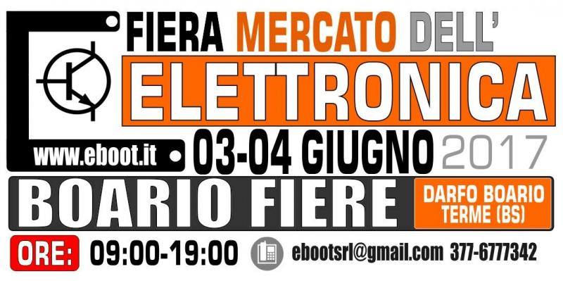 Fiera dell 39 elettronica a darfo boario terme bs 2017 for Fiera elettronica 2017