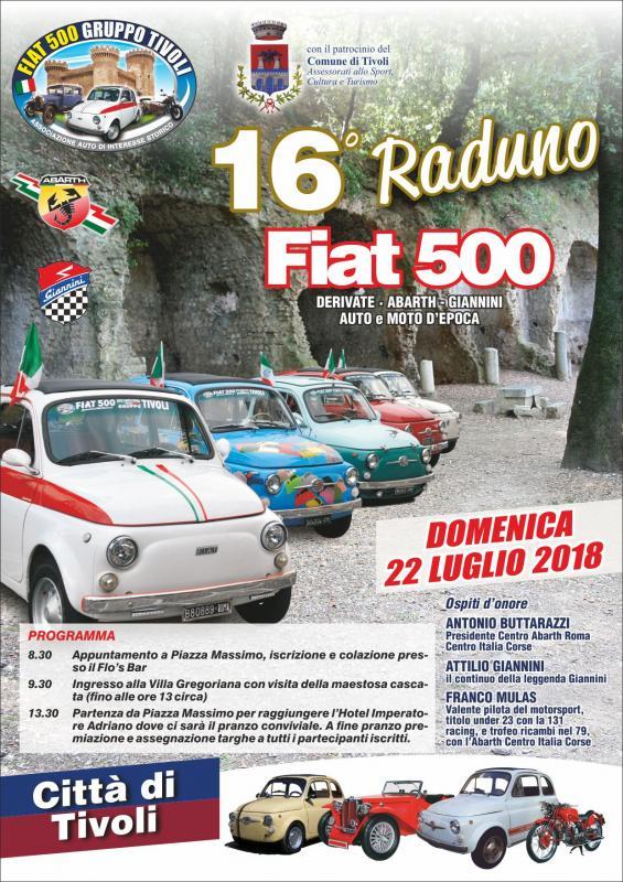Raduno Fiat 500 a Tivoli | 2018 | (RM) Lazio | eventi e sagre