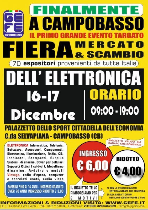 Fiera dell 39 elettronica a campobasso cb 2017 molise for Fiera elettronica 2017