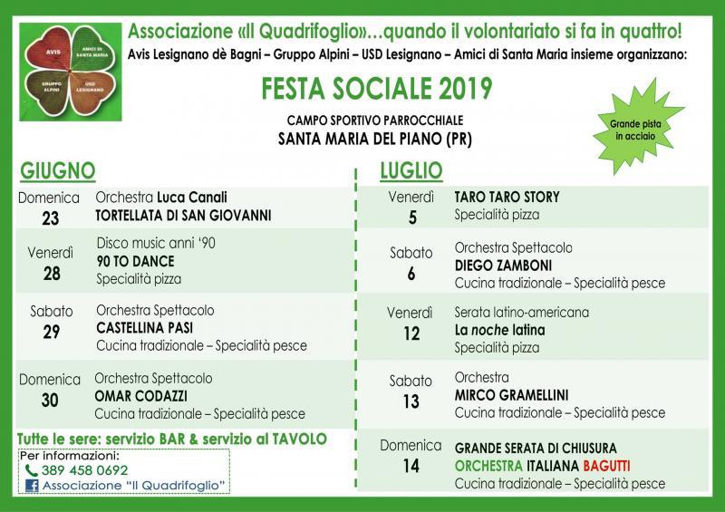 Omar Codazzi Calendario.Festa Sociale Il Quadrifoglio A Lesignano De Bagni 2019