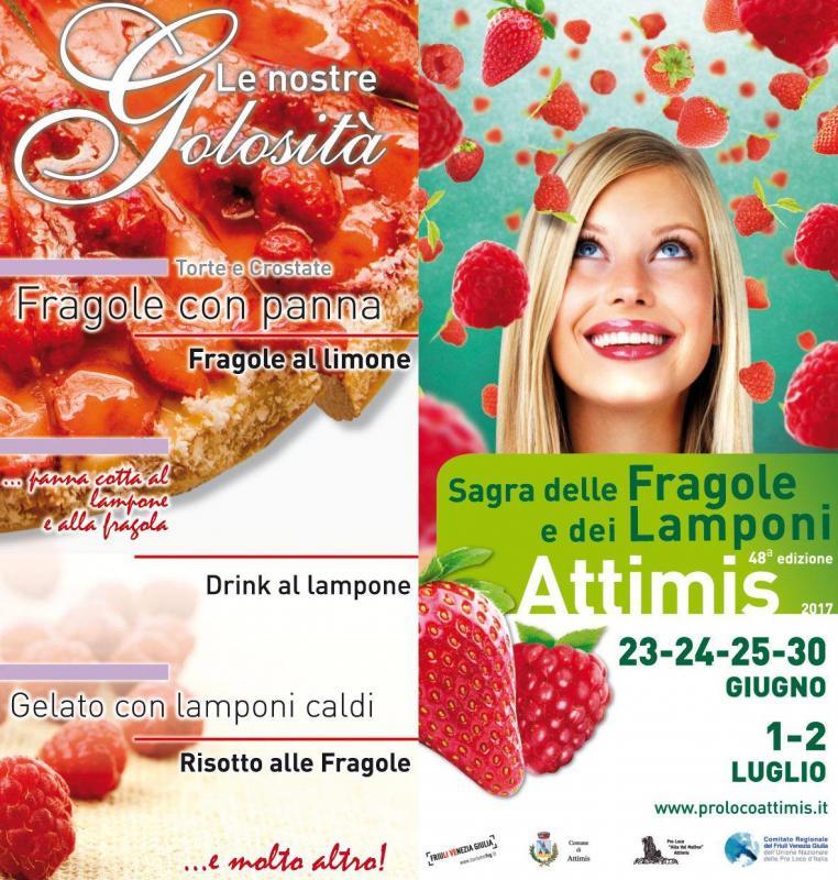 Sagra delle fragole e dei lamponi a attimis 2017 ud for Eventi oggi fvg