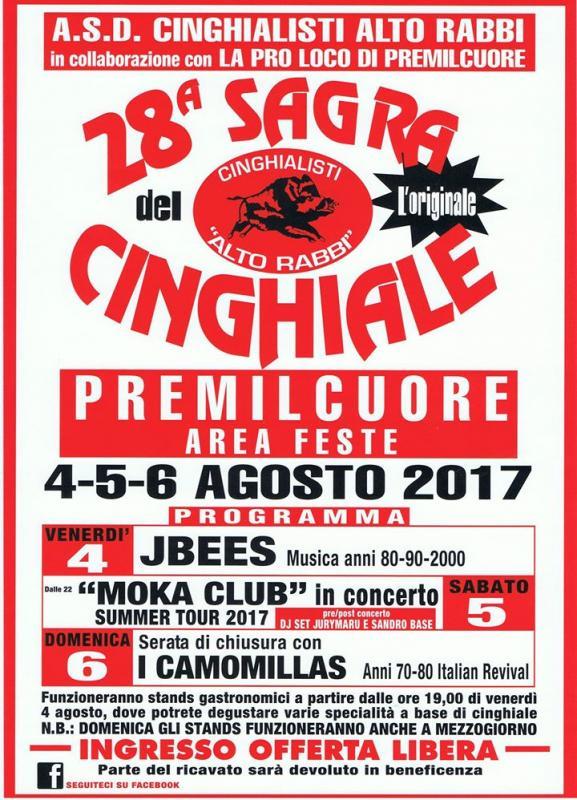 Sagra del cinghiale premilcuore fc 2017 emilia romagna for Sagre emilia romagna 2017