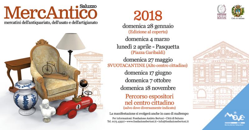 Mercantico saluzzo cn 2018 piemonte eventi e sagre for Mercatini antiquariato 4 domenica