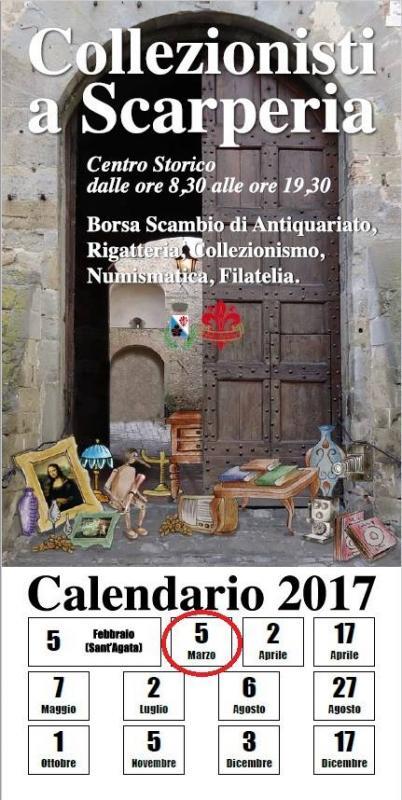 Collezionisti in piazza a scarperia scarperia fi 2017 for Calendario mercatini antiquariato