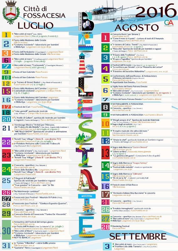 Fossacesia estate fossacesia ch 2016 abruzzo eventi for Calendario fiere 2016