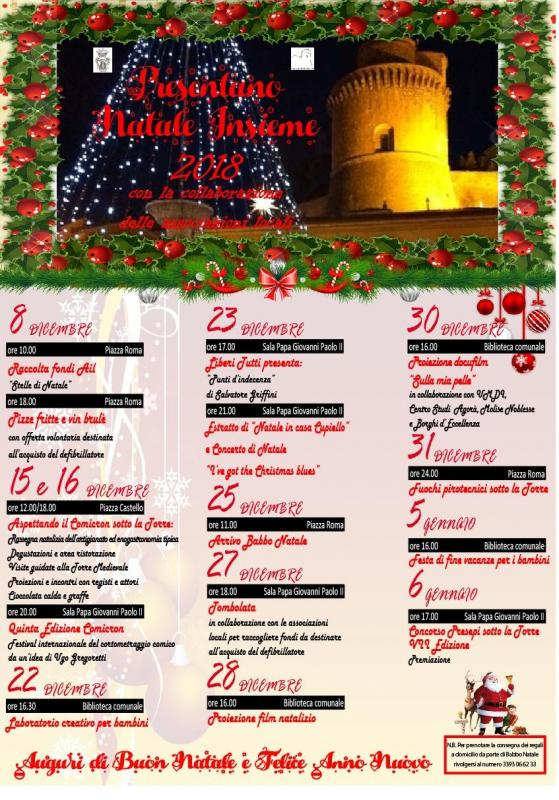 Auguri Di Buon Natale Yahoo.Natale Insieme A Pontelandolfo 2019 Bn Campania Eventi E Sagre