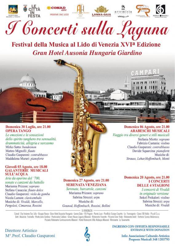 I concerti sulla laguna venezia ve 2017 veneto for Conad arredo giardino 2017