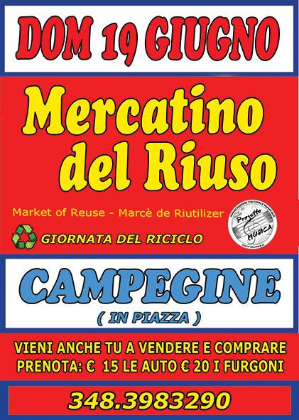 Mercatini usato mercatino del riuso 19 06 2016 19 06 for Arredamento usato emilia romagna