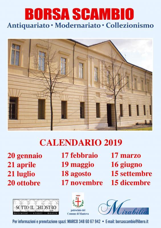 Calendario Mercatini Antiquariato.Mercatino Dell Antiquariato A Mantova 2019 Mn