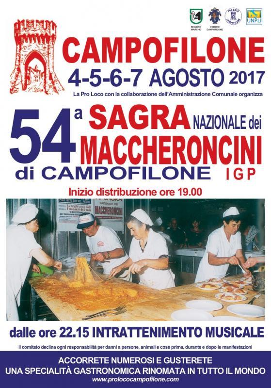 Sagra dei maccheroncini campofilone fm 2017 marche for Eventi marche 2017