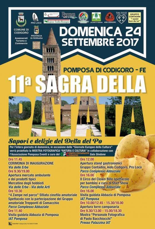 Festa della patata a codigoro 2017 fe emilia romagna for Sagre emilia romagna 2017