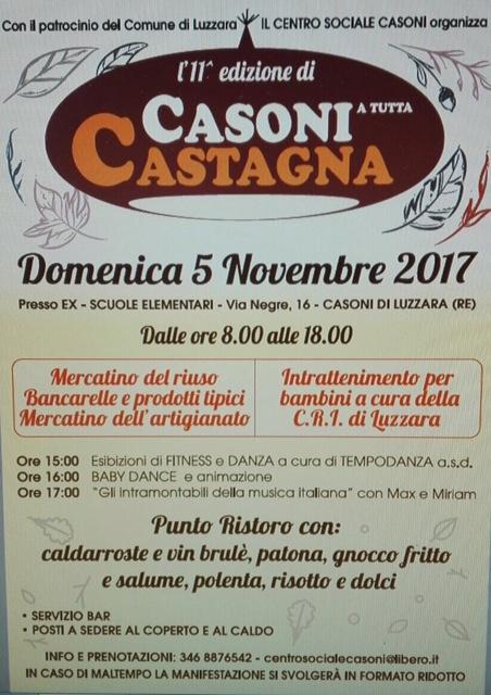 Casoni a tutta castagna a luzzara re 2017 emilia for Sagre emilia romagna 2017