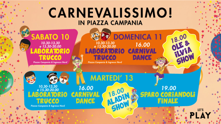Carnevale al centro commerciale campania a marcianise ce for Centro convenienza arredi marcianise marcianise ce