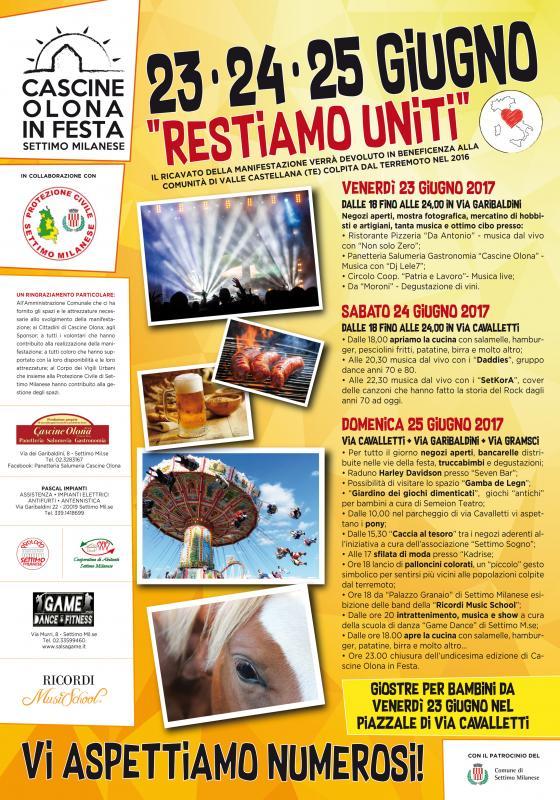 Cascine Olona In Festa A Settimo Milanese 2017 Mi Lombardia