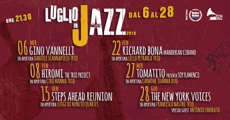 Eventi musicali luglio in jazz 06 07 2016 28 07 2016 for Centro convenienza arredi marcianise marcianise ce