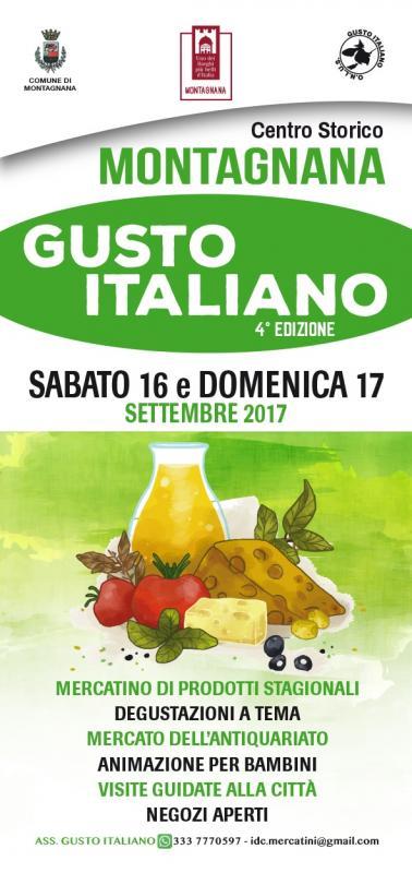 Gusto italiano montagnana pd 2017 veneto eventi e sagre for Mercatini antiquariato veneto oggi