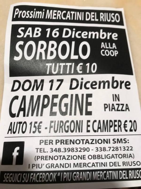 Mercatino del riuso sorbolo pr 2017 emilia romagna for Sagre emilia romagna 2017