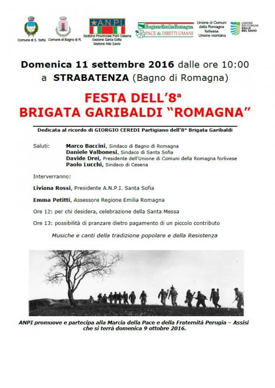 Eventi feste festa 8 brigata garibaldi 11 09 2016 11 09 2016 bagno di romagna fc emilia - Bagno di romagna eventi ...
