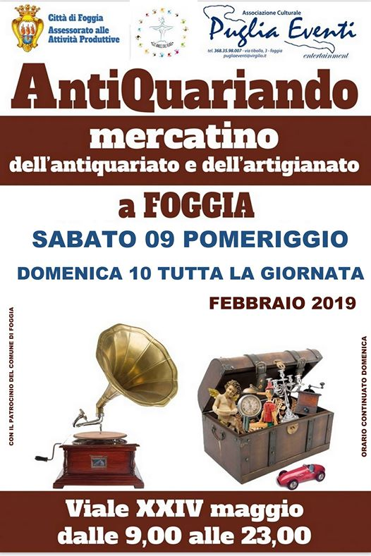 Calendario Mercatini Antiquariato Puglia.Mercatino Antiquariato E Artigianato A Foggia 2019 Fg