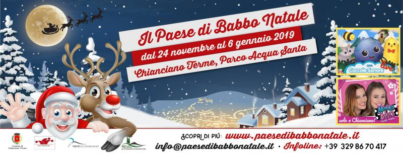 Casa Di Babbo Natale Chianciano.Il Paese Di Babbo Natale A Chianciano Terme 2019 Si Toscana