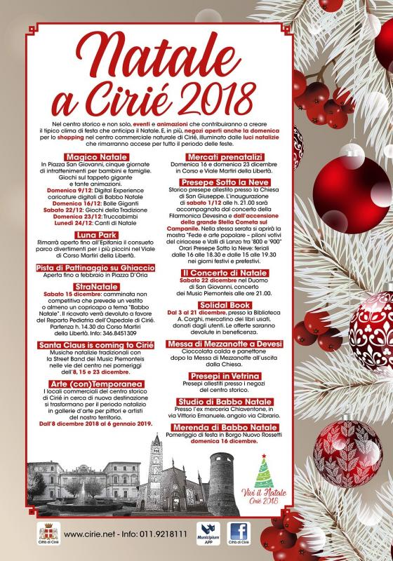 I Menu Di Natale 2019.Natale A Cirie A Cirie 2019 To Piemonte Eventi E Sagre