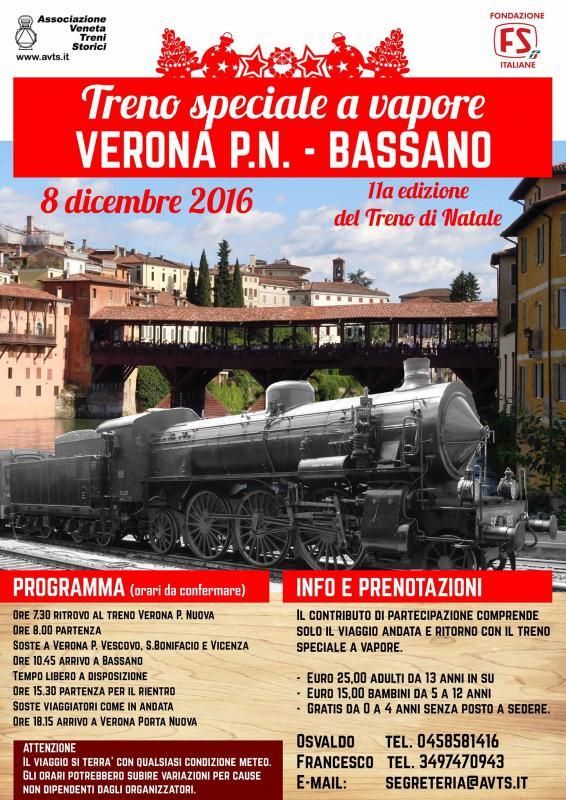 Treno a vapore speciale verona vr 2016 veneto su - Partenze treni verona porta nuova ...