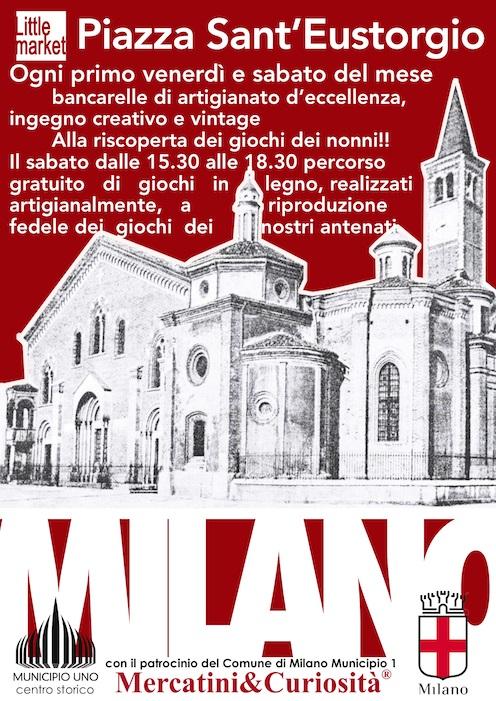 Little market milano mi 03 02 2017 02 12 2017 for Piazza sant eustorgio