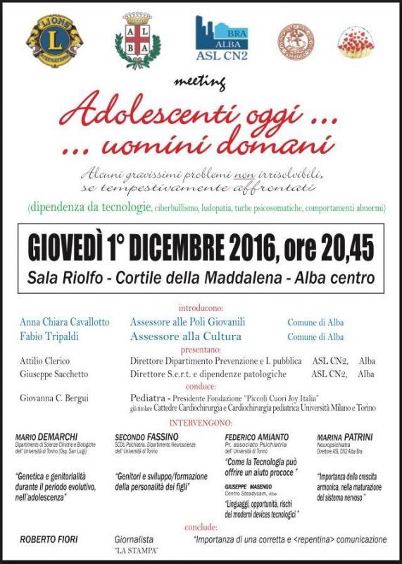 Adolescenti oggi uomini domani alba cn 2016 piemonte for Eventi piemonte domani