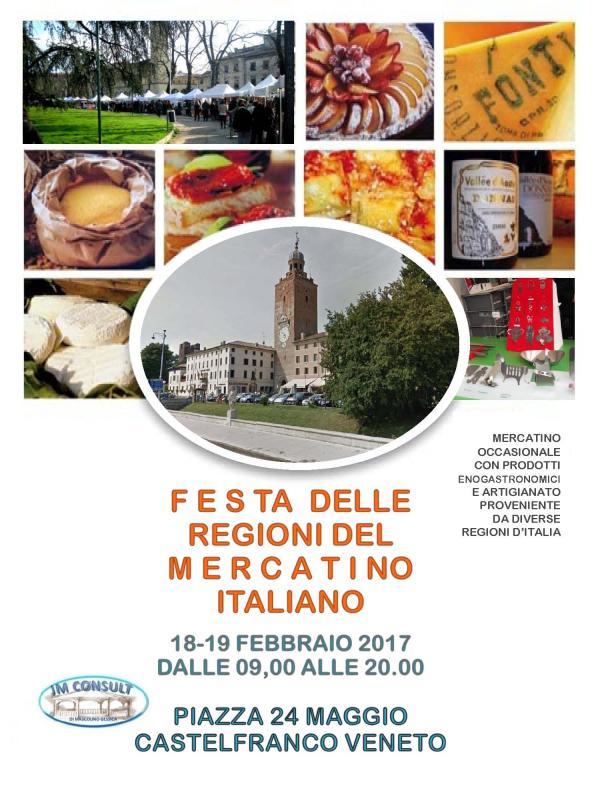 Festa delle regioni del mercatino a castelfranco veneto for Mercatini veneto oggi