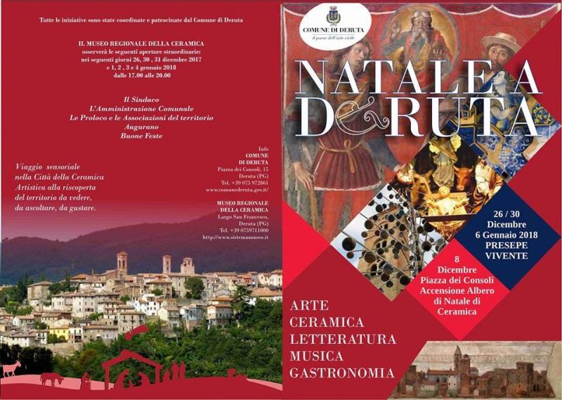 Museo Regionale Della Ceramica Di Deruta.Natale A Deruta A Deruta 2018 Pg Umbria Eventi E Sagre