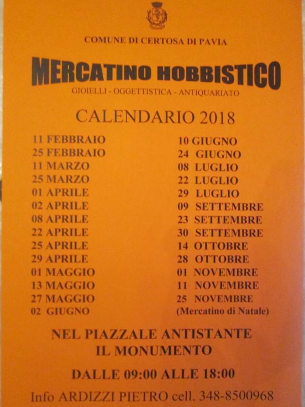 Il Mercatino Hobbistico A Certosa Di Pavia   Certosa Di Pavia