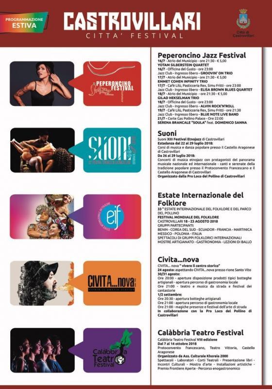 Calendario Concerti Calabria.A Castrovillari Citta Festival A Castrovillari 2018 Cs