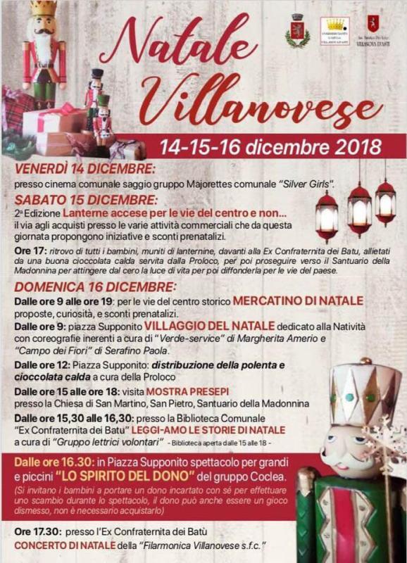 Eventi Natale.Eventi Di Natale A Villanova D Asti A Villanova D Asti