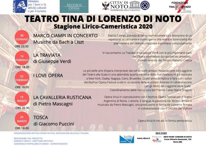 Stagione Lirico Sinfonica Del Teatro Tina Di Lorenzo A Noto