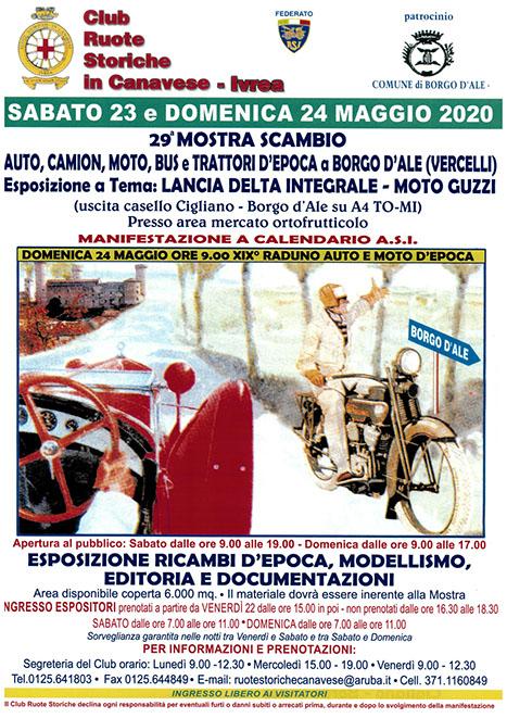 Mostra Scambio Auto Moto A Borgo D'ale a Borgo D'ale | 2020 | (VC