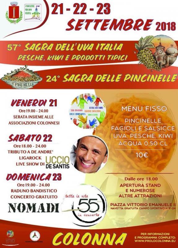 Sagra dell 39 uva italia e prodotti tipici colonnesi a for Roma prodotti tipici