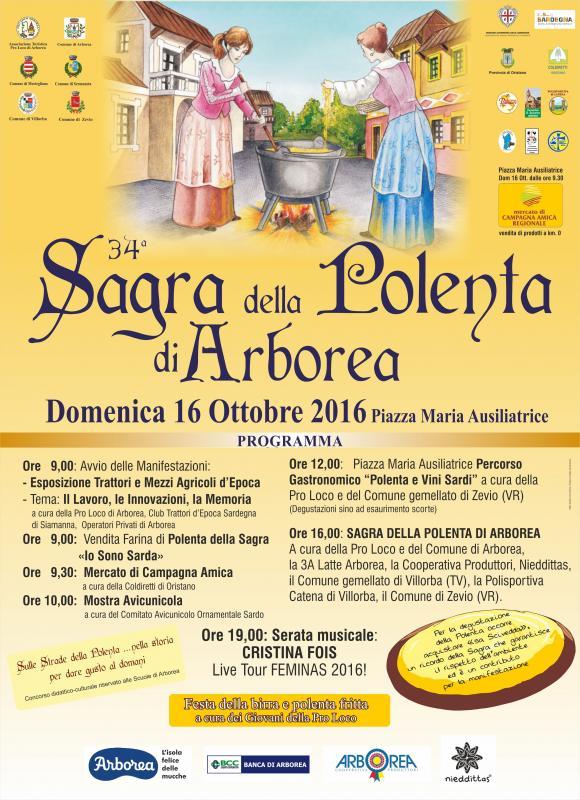 Sagra della polenta arborea or 2016 sardegna su eventi for Trattori usati sardegna privati