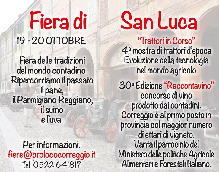 Calendario Manifestazioni Trattori D Epoca.Fiera Di San Luca A Correggio 2019 Re Emilia Romagna