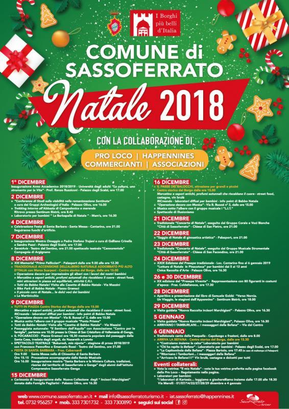 Eventi Natale.Eventi Natalizi A Sassoferrato A Sassoferrato 2019 An