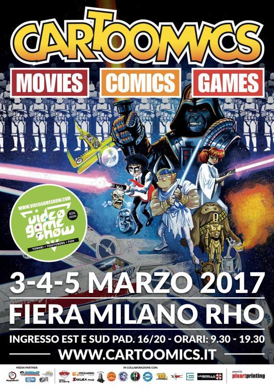 Cartoomics rho mi 2017 lombardia eventi e sagre for Rho fiera eventi oggi