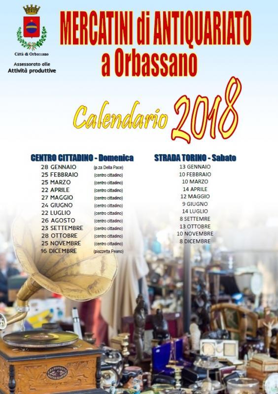Mercatino dell 39 antiquariato orbassano to 2018 piemonte for Calendario mercatini antiquariato